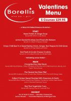 Five Course Valentine Dinner Only £29.95