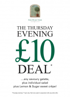 The Thursday night £10 deal is back!