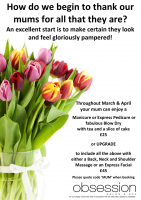 Treat your Mum in March & April!