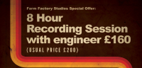 Special offer on recording sessions at The Musiclab Welwyn at Farm Factory Studios