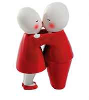 I Valentini Kissing Couple Figure