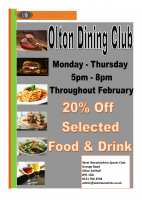 Olton Dining Club February Offer