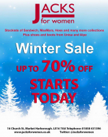 Now 70% OFF Winter Sale Now On At Jacks For Women!