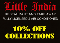 10% off collected Takeaways from Little India.