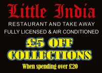 £5 OFF Collected Takeaways from Little India St Neots