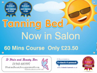Tanning bed, 60mins only £23.50