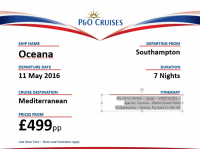 Fantastic 7 day cruise offer from Go Cruise