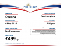 Don't miss this 7 day Fly/Cruise from £499.