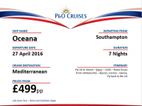 7 Day Spring Getaway with P & O