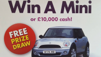 FREE for a chance to win a brand new mini or £10,000 draw takes place on  20th March