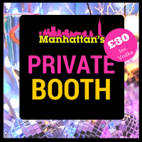 Private Booth Hire PLUS Bottle of Vodka and Mixers - for JUST £30!