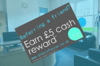 Refer a friend for £5!