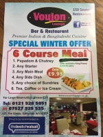 6 Course Meal for just £9.95 Sunday to Thursday