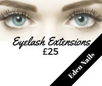 Eyelash extensions for just £25 with Eden Nails