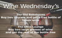 Wine Wednesday's at The Olive Lounge.