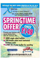 Springtime Printing bundle offer to promote your business!