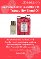 Receive a complimentary blend oil worth £16.