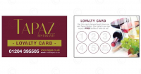 Fabulous Loyalty Card from Tapaz Ristorante