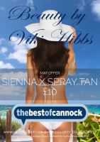 Sienna Spray Tan £10