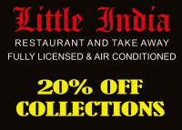 20% off collected Takeaways from Little India.