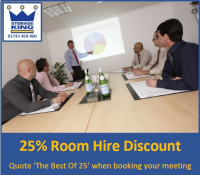 25% OFF MEETING ROOM HIRE