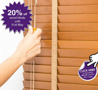 20%OFF Wood Blinds at Milners in Ashtead