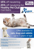 25% off Neutering for Healthy Pet Club Members