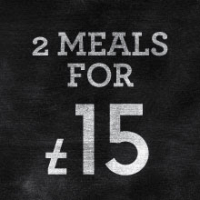 TWO MEALS FOR £15