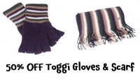 50% OFF Toggi Gloves & Scarf at Country Clothing
