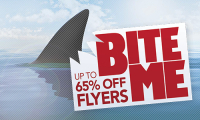 Up to 65% off Flyers!