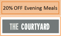 20% Off Your Evening Meal at The Courtyard