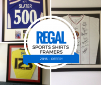 FOOTBALL SHIRT FRAMING - 2016 FOOTBALL EXCLUSIVE SEASON OFFER!