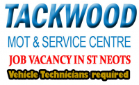 VEHICLE TECHNICIANS REQUIRED AT TACKWOOD IN ST NEOTS
