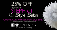25% off with Steph at Hi Style Salon