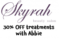 30% OFF Treatments with Abbie at Skyrah Beauty Epsom