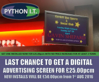 Last chance Digital screen at £25