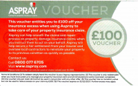 £100 off your insurance excess with Aspray