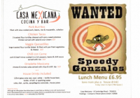 Weekday lunchtime special - only £6.95