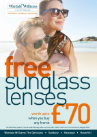 FREE sunglasses worth £70 at Wardale Williams