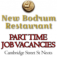 Part Time Job Vacancies - The New Bodrum Restaurant St Neots