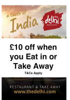 £10 off Eat in Or Takeaway during July until end of October 2016