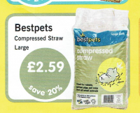 Save 20% on large bags of Bestpets compressed straw great for all your pets bedding needs