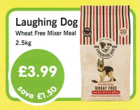Has your dog got an intolerance to wheat? Come along to creature comforts and get a bag of wheat free mixer for just £3.99