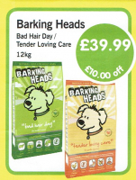 Save a massive £10 on Barking heads adult dog food at Creature Comforts