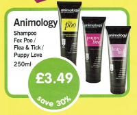 Save 30% on Animology shampoo