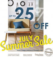 It's the JULY SUMMER SALE at Milners in Ashtead with up to 25% OFF