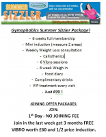 gymophobics, july, summer, sizzler, offer