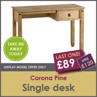 LAST ONE - CORONA SINGLE PINE DESK