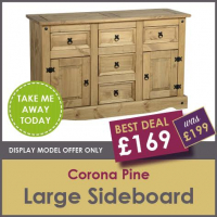 BEST DEAL CORONA LARGE SIDEBOARD