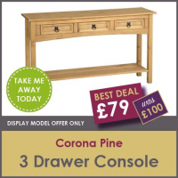 DISPLAY MODEL OFFER - 3 DRAWER CONSOLE
